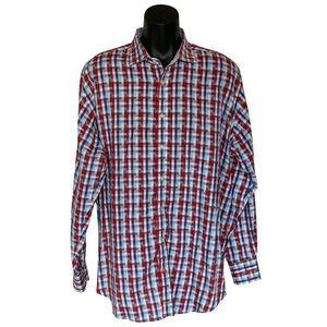 TD Thomas Dean Shirtmakers Cloth Flip Cuff Shirt